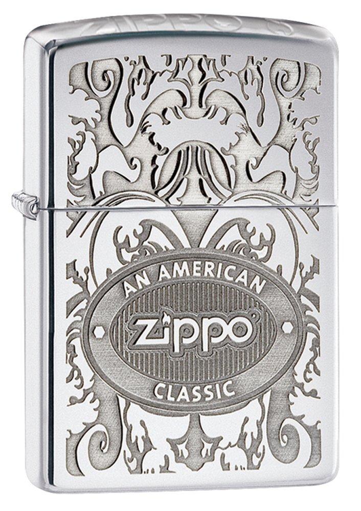 送料無料 国内在庫を迅速にお届けします ZIPPO ジッポー 24751 ロゴ オイル シルバー 特価品コーナー☆ お金を節約 サテンクローム ライター レギュラーサイズ import