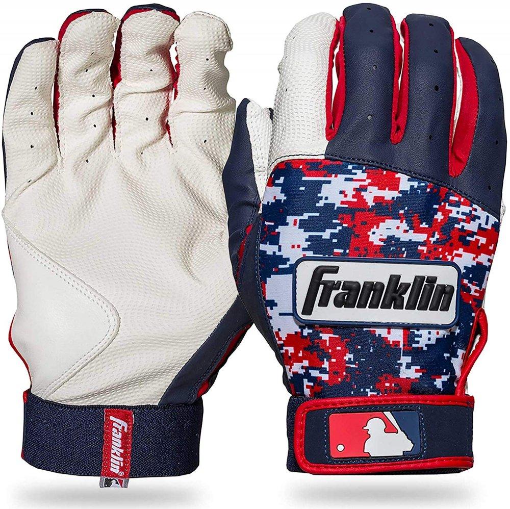 送料無料 国内在庫を迅速にお届けします Franklin フランクリン バッティンググローブ DIGITEK 期間限定で特別価格 白 サイズ 両手用 ネイビー S 物品 赤 野球 手袋