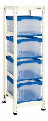 コンテナラックケース 連結 幅420×奥行き570×高さ1450mm 均等耐荷重:200kg【CR-40BSR】