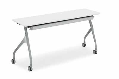 コクヨ 会議用テーブル エピファイ 会議用テーブル 天板フラップ式 配線キャップなし パネルなし 直線タイプ 幅1800×奥行き450×高さ720mm【KT-S1000】