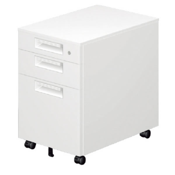 LEED Desk(リードデスク) デスクアクセサリー サイドキャビネット 3段【LE-046SC-3】
