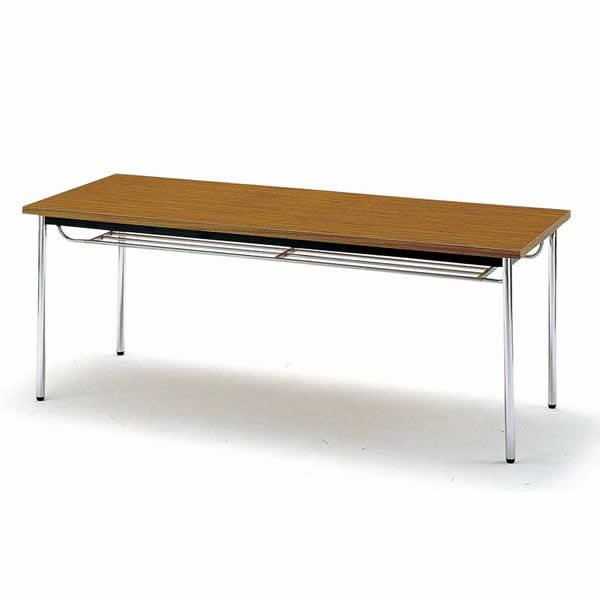 会議テーブル TDS・TDシリーズ TD 棚付 丸脚 幅900×奥行き900×高さ700mm【TD-0990TM】