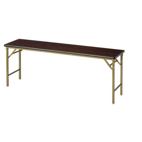 折畳み会議テーブル(ワイド脚)棚なし 共張り 国産品 幅1800×奥行600mm【WL-1860】
