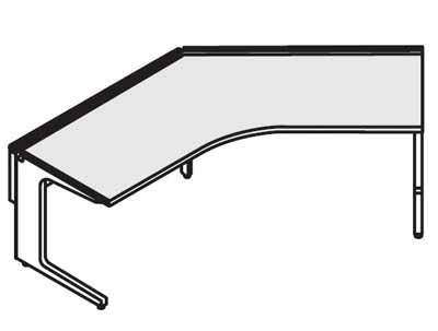 コクヨ レヴィスト デスクシステム パーソナルテーブル ブーメランテーブル 135度 幅1200mm【SD-LVV1212】