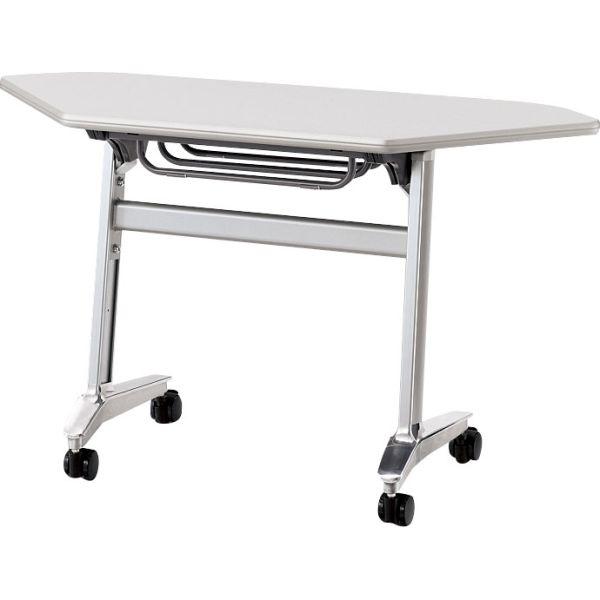 サイドスタックテーブルSA-45 幅1235×奥行き450×高さ700mm 幕板無し【6-164-228】