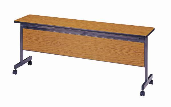 跳ね上げ式会議用テープル(幕板付) 幅1800×奥行450mm 【国産】【SHT-1845M】