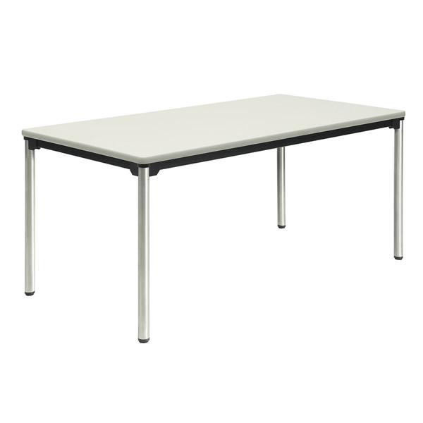 ミーティングテーブル・会議テーブル/ ATXテーブル 【幅1200×奥行き750mm・棚なし・ステンレスパイプ脚】【ATX-1275SE-M3】