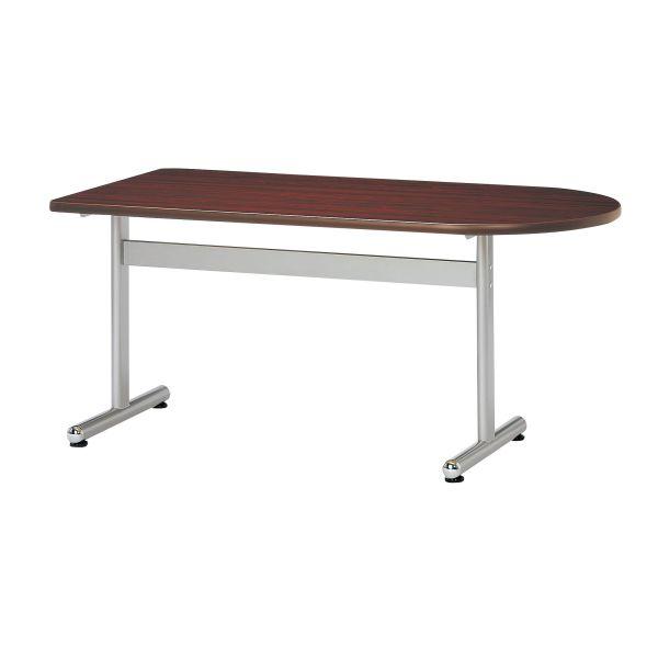 会議用テーブル 半楕円型 幅1200×奥行750mm 塗装脚タイプ 【国産】【AKT-U1275】