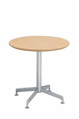 コクヨ イートイン シリーズ テーブル リフレッシュテーブル 十字脚 高さ700mmタイプ 天板寸法 直径750mm 突板 塗装脚【LT-415T72】