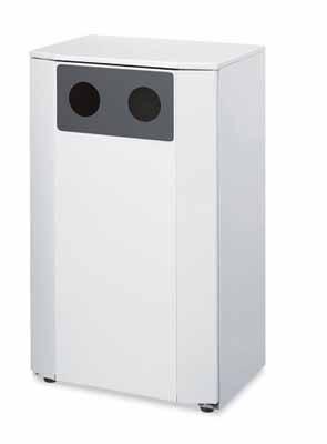 コクヨ フロアタイプ リサイクルボックス スチールタイプ カン・ビン用 幅540×奥行き400×高さ892mm【PF-EW401NN】