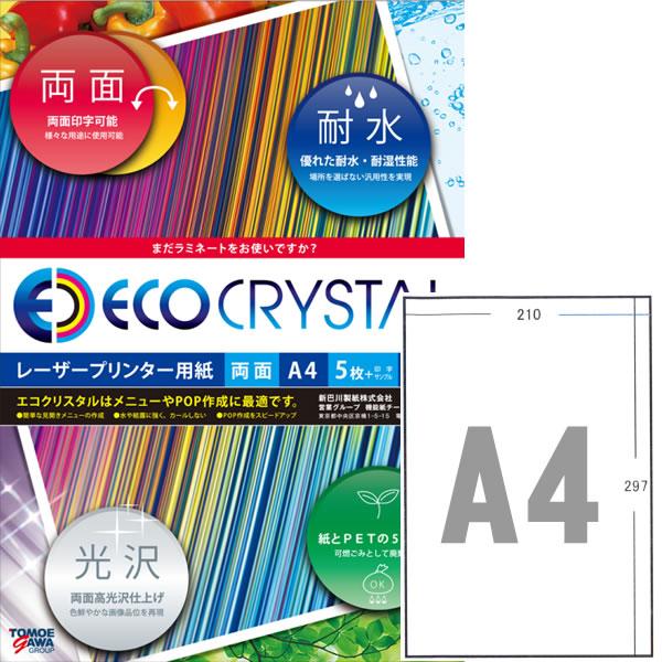 エコクリスタルペーパー レーザープリンタ用耐水紙 A4標準タイプ 250枚【TWD100A-A4G】