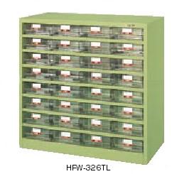 サカエ ハニーケース 樹脂ボックス 均等耐荷重:棚板1段当り50kg【HFW-323T】