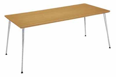 コクヨ イートイン シリーズ テーブル リフレッシュテーブル 4本脚 高さ700mmタイプ 天板寸法 幅1800×奥行き800mm 突板 メッキ脚【LT-M342T72】