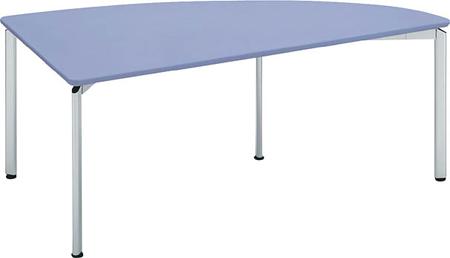 コクヨ 会議 ミーティング用テーブル カリブ スチール脚 塗装天板 1/4楕円R 幅1800×奥行き900mm【MT-189N】