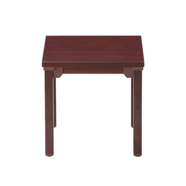 応接テーブル コーナーテーブル 丸脚 幅450×奥行450mm【CTR-4545】