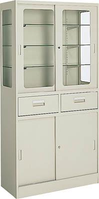 外来 処置室 器械戸棚 引き違い扉タイプ【HP-SG12F1N】