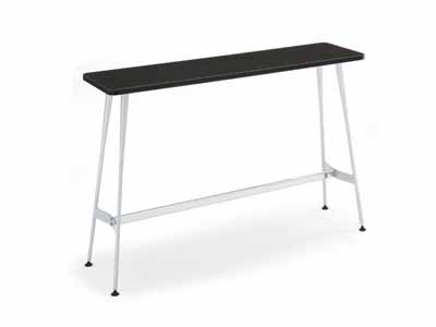コクヨ イートイン シリーズ テーブル リフレッシュテーブル 4本脚 高さ1000mmタイプ 天板寸法 幅1500×奥行き450mm メラミン化粧板 メッキ脚【LT-M335】