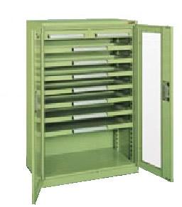 サカエ ミニ工具室 均等耐荷重:棚板1段当り80kg・中引出し50kg・浅引出し35kg【K-1031A】