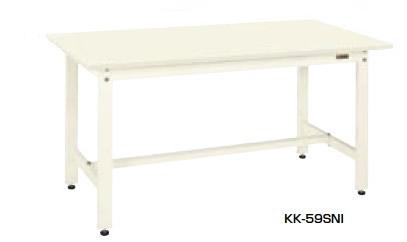 サカエ KK 軽量作業台 アイボリー 均等耐荷重:350kg【KK-59FNI】