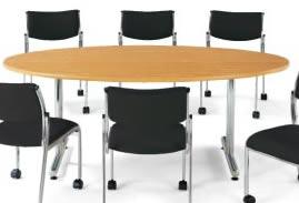 ミーティングテーブル・会議テーブル/イス別売り【タマゴ型 幅1800×奥行き900mm】【MT-1890E-M3】