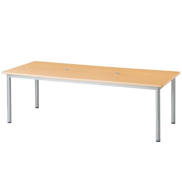 配線ホール付き会議テーブル ナチュラル 【国産】【MO-1890-NA】