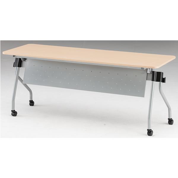 フォールディングテーブル パネル付き 幅1800mm×奥行450mm×高さ720mm【NTA-N1845P】