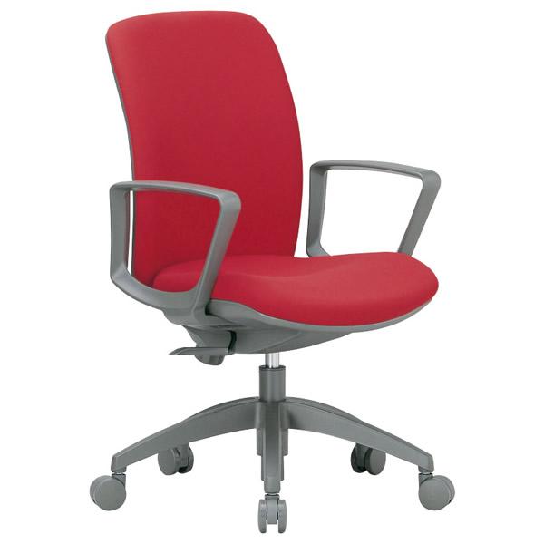 3Dフォーム・オフィスチェア(ミドルバック・サークル肘付タイプ・布地張り)【OA-2135BJ-FG3】