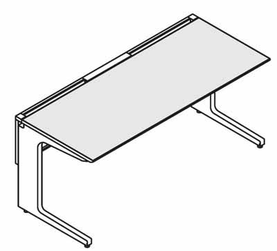 コクヨ レヴィスト デスクシステム パーソナルテーブル スタンダードテーブル 幅1100mm【SD-LV117L】
