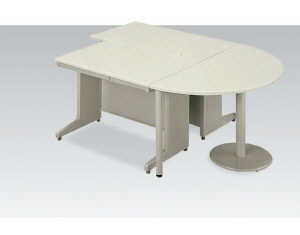 LAデスク 半円型エンドテーブル (エルエーデスク) 【LA-7DT-HR】
