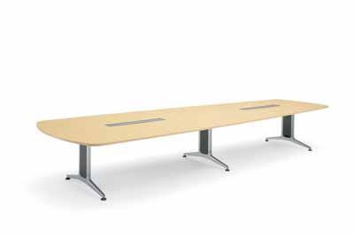 コクヨ 大型会議テーブル WT-200シリーズ ウイング型 突板天板 配線なし 幅4000mm×奥行き1550×高さ720mm【WT-W222】