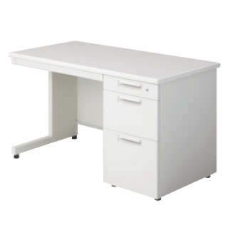 LEED Desk(リードデスク) 片袖机 L字脚(D-3段袖) 幅1100×奥行600mm【LE-116D-3】