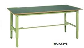 サカエ TKK6 軽量高さ調整作業台 アイボリー 均等耐荷重:200kg【TKK6-187SI】