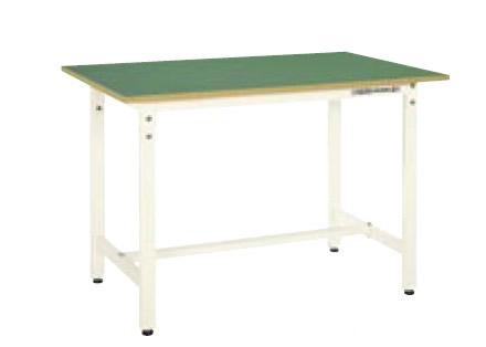 サカエ CK 軽量作業台 天板:グリーン 本体:アイボリー 均等耐荷重:300kg【CK-127FIG】