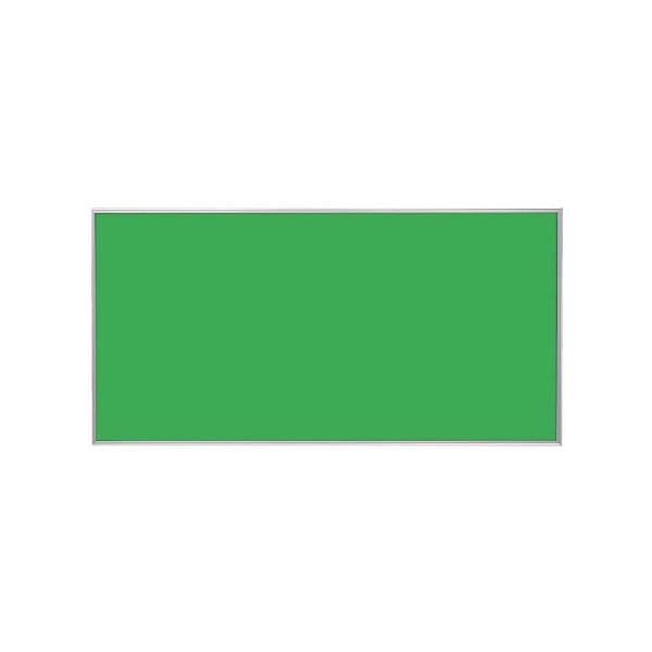 スリーウェイ掲示板 シルバーアルミ枠 表面色グリーン 1210×910mm【KP34】