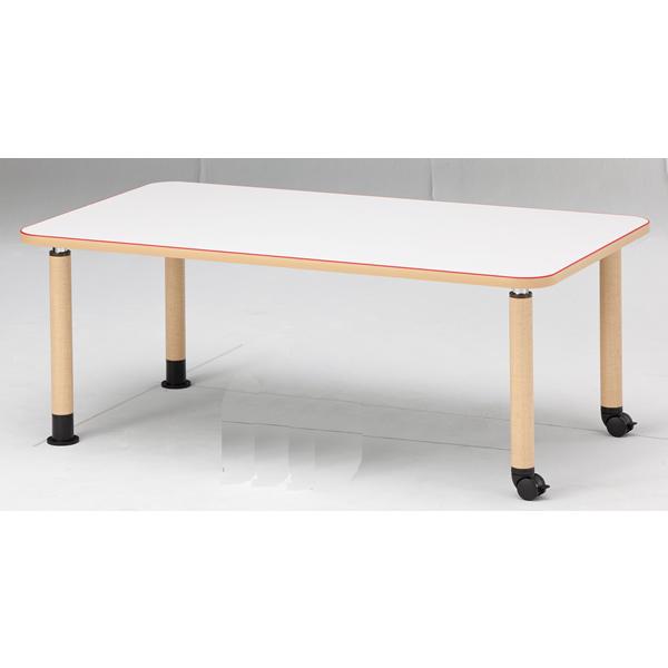 【福祉】介護用テーブル 角型テーブル(キャスタータイプ) 幅1600mm×奥行900mm×高さ600mm~800mm【MK-1690C】