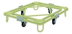 自在移動回転台車 中重量型 標準タイプ 幅1100×奥行き1100×高さ231mm 均等耐荷重:500kg【RC-4G】