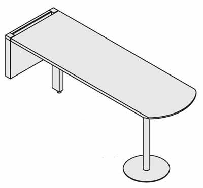 コクヨ レヴィスト デスクシステム オプション ミーティング用サイドテーブル スタンダードタイプ【SD-LV165SR】