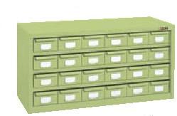 サカエ ハニーケース HMタイプ グリーン 均等耐荷重:棚板1段当り50kg【HM-24】