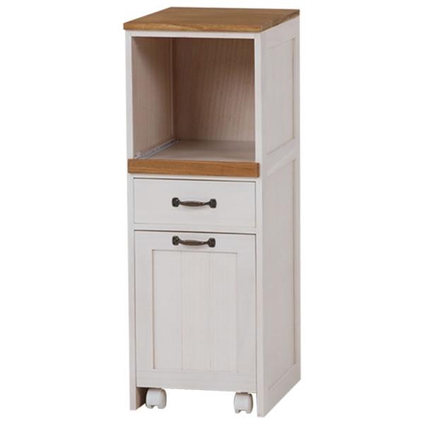 キッチンラック ホワイト 幅30×奥行40×高さ85cm MUD-5900WS【HA-101452600】