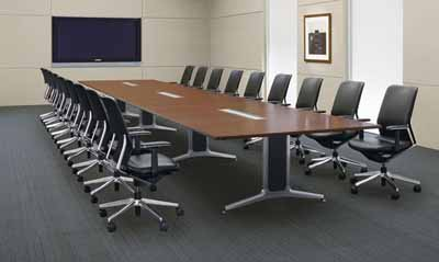 Economy rakuten global market conference table wt 200 series boat conference table wt 200 series boat type poking board topped with wiring 6400 mm width x depth 1500 height 720 mm greentooth Gallery