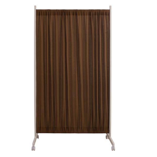 間仕切りカーテンパーテーション 幅94.5~175cm 高さ180.5cm ブラウン色【NSA-NJ-0106】