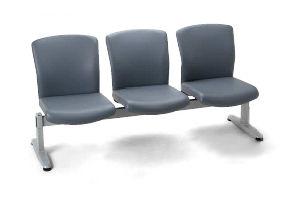 ロビーチェア/ LC600シリーズ 3人用肘無タイプ 【肘なし・抗菌性ビニールレザー張り】【LC-683-VG1】