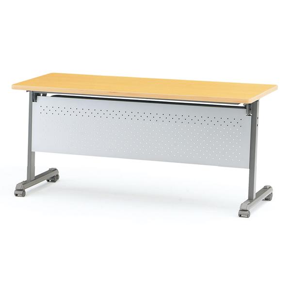 フォールディングテーブル(ストレートパネル付) 幅1200mm×奥行600mm×高さ700mm【MOG-1260P】