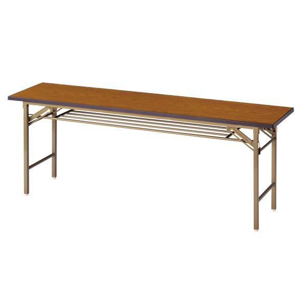 折畳み会議テーブル(一体成型天板) 棚なし 国産品 幅1800×奥行600×高さ700mm【SO-1860】