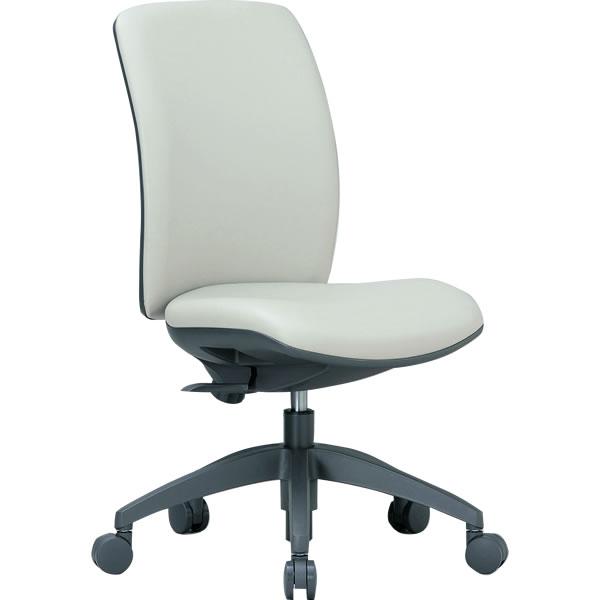 3Dフォーム・オフィスチェア(ミドルバック・肘なしタイプ・ビニールレザー張り)【OA-2125-VG1】