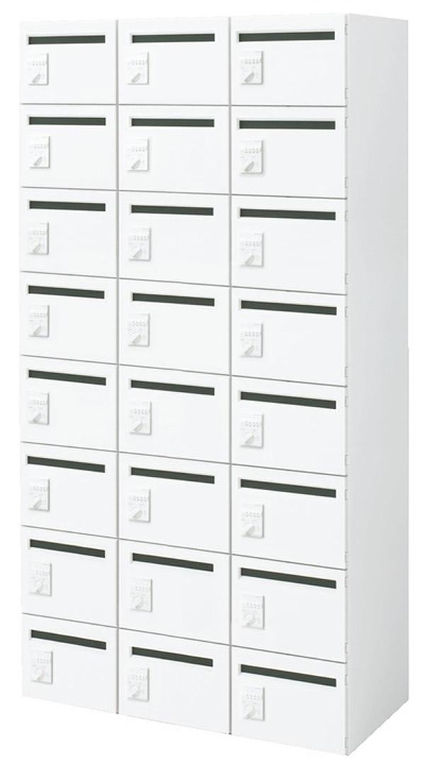 【最大3年保証】コクヨ エディア 収納システム 高さ1750mmタイプ 下置き ダイヤルロック 24人用メールボックス  幅900×奥行400×高さ1750(1【BWU-RNMBD79S】