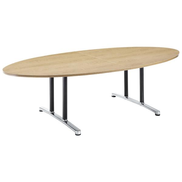 ミーティングテーブル・会議テーブル/ WALテーブル 【タマゴ形・幅2400×奥行き1200mm】【WAL-2412E】