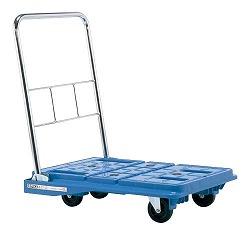 スタッキングハンドカー サイレントキャスター ブレーキ付き ブルー 幅720×奥行き538×高さ800mm 均等耐荷重:150kg【SPD-720BSC】