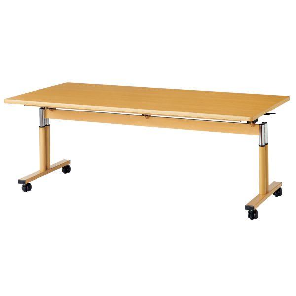 跳ね上げ式昇降機能付テーブル 幅1600×奥行900mm 【国産】【RK-F1690】