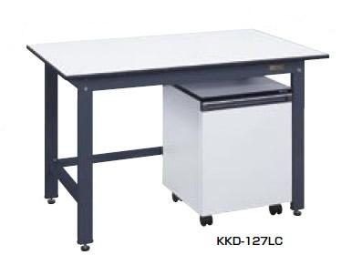 サカエ KK 軽量作業台 キャビネットワゴン付 均等耐荷重:350kg【KKD-127LC】